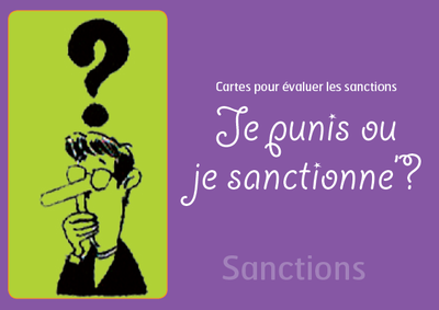 Je punis, je sanctionne