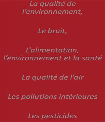 thèmes santé environnement