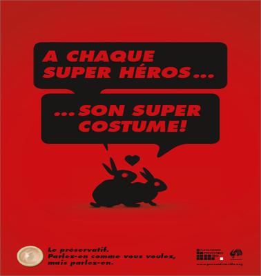 Affiche sida 2011: Super héros
